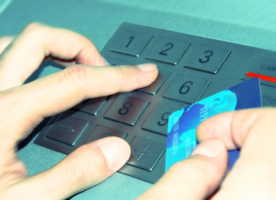 card and ATM keypad